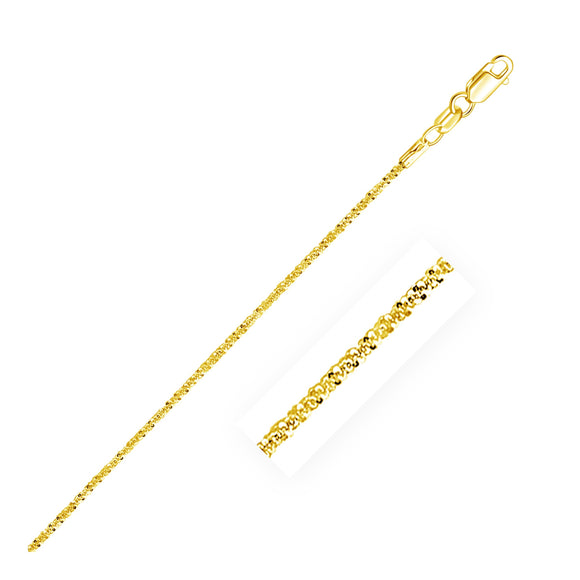 1.5mm 10K Gold Sparkle Anklet - Fine Jewelry from Hamunaptra NY :: Exclusively at Mental XS Online