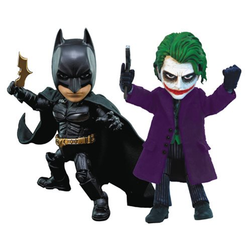 The Dark Knight: Batman and Joker Hybrid Metal Figuration Action Figure Set - Official Herocross :: Mental XS Online