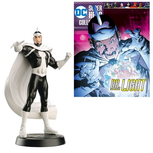 DC Comics - Superhero Best Of Figure Dr. Light Metallic Polyresin Statue with Magazine #49 - Official Eaglemoss Publications :: Mental XS Online