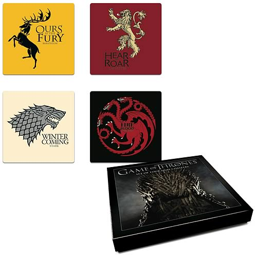 Game of Thrones House Coaster Set - Official Dark Horse :: Mental XS Online