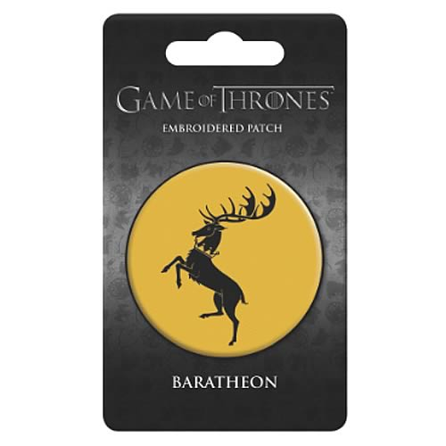 Game of Thrones Baratheon Embroidered Patch - Official Dark Horse :: Mental XS Online