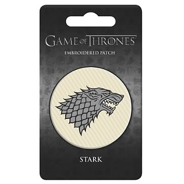 Game of Thrones Stark Embroidered Patch - Official Dark Horse :: Mental XS Online