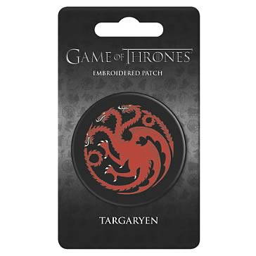 Game of Thrones Targaryen Embroidered Patch - Official Dark Horse :: Mental XS Online