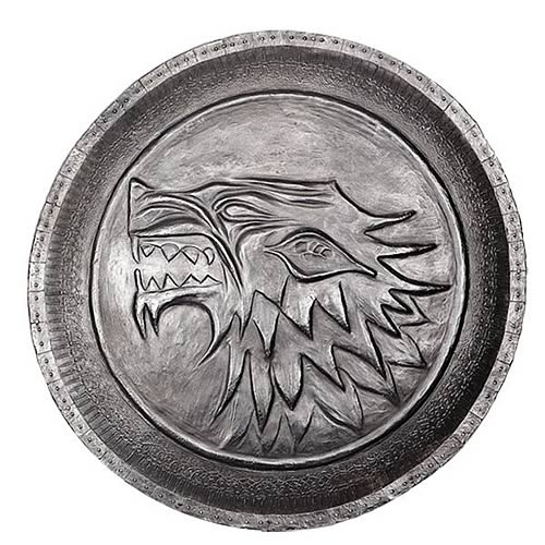 Game of Thrones Stark Direwolf Shield Pin - Official Dark Horse :: Mental XS Online