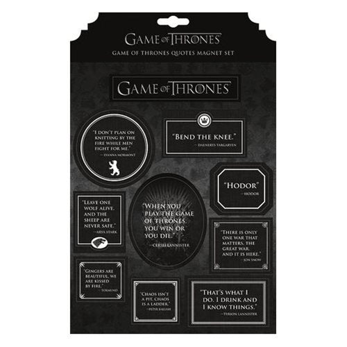 Game of Thrones Quotes Magnet Set - Official Dark Horse :: Mental XS Online