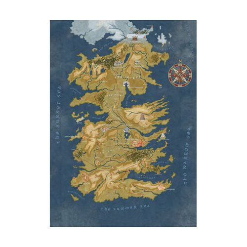Game of Thrones Cersei Lannister Westeros Map - Official Dark Horse :: Mental XS Online