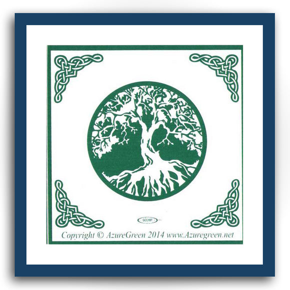 Tree of Life with Celtic Knotwork Bumper Sticker