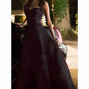 Vampire Diaries 4x19 Elena Gilbert Chiffon Prom Dress