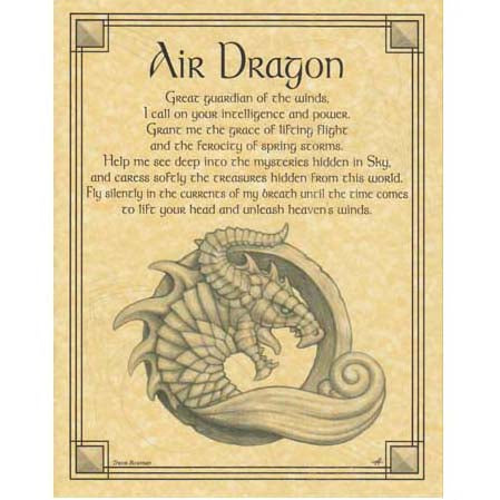 Air Dragon Prayer Poster