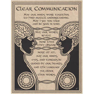 Prayer for Clear Communication Poster