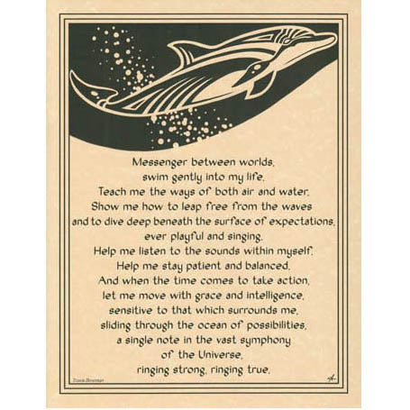 Dolphin Prayer Poster