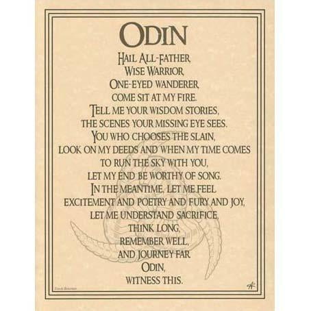 Odin Prayer Poster