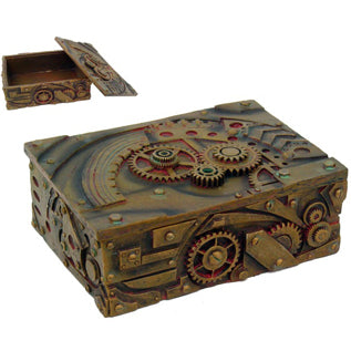 Steampunk Cold-Cast Resin Box by J Fizziwigs 5