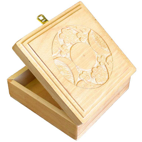 Triple Moon Square Wooden Box 6