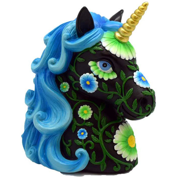 Black & Blue Unicorn Money Bank