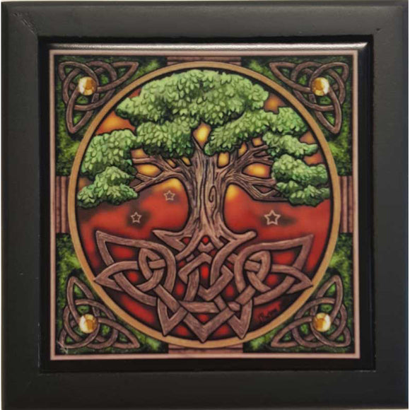 Tree of Life Tile Box by Lisa Parker 5