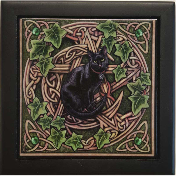 Pentacle Cat Tile Box by Lisa Parker 5