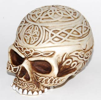 Celtic Skull Cold-Cast Resin Vessel 5