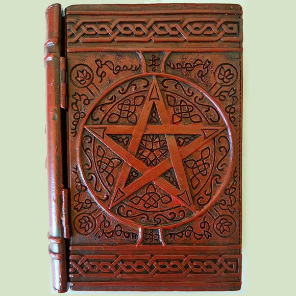 Pentacle Cold-Cast Resin Book Box 4
