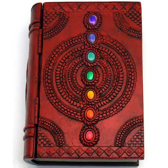 7-Chakra Cold-Cast Resin Book Box 4