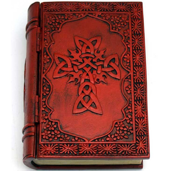 Celtic Cross Cold-Cast Resin Book Box 4