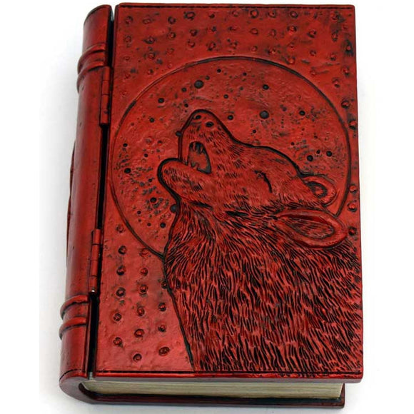 Wolf Moon Cold-Cast Resin Book Box 4