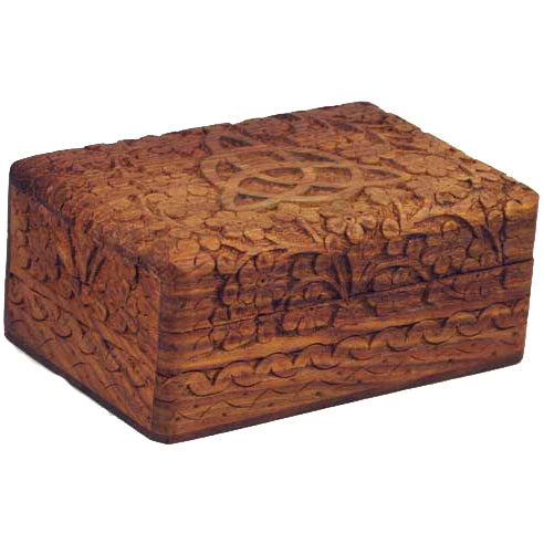 Triquetra Carved Wooden Box 6