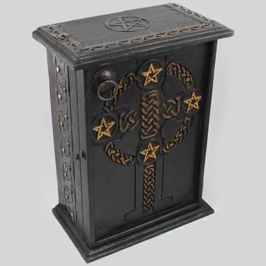 Pentacle & Celtic Cross Altar Cupboard 11