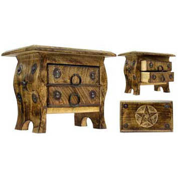 Pentacle Wooden Chest 7½