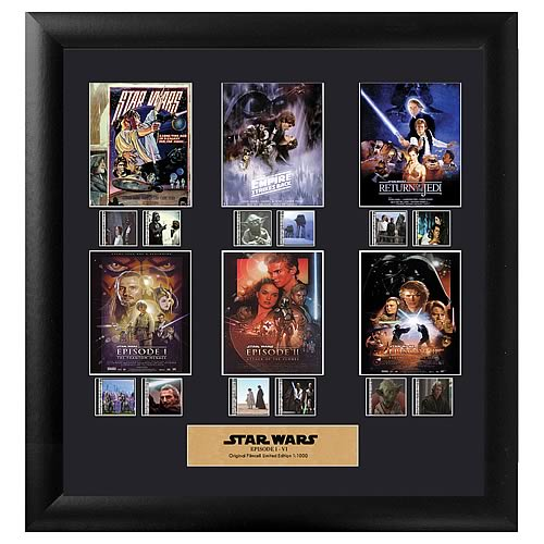 Star Wars: Episode I-VI Movie Film Cell Display - Official Filmcells Ltd Limited Edition 1000 :: Mental XS Online