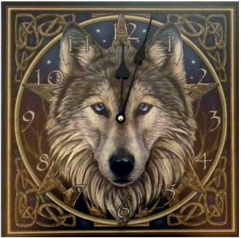 Wolf Clock by Lisa Parker