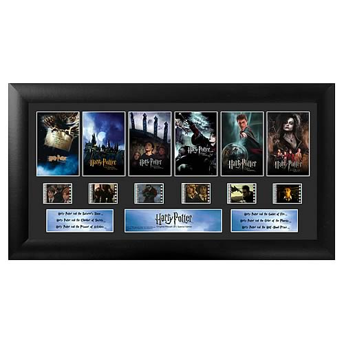 Harry Potter 1-6 Movie Montage Series 1 Film Cell Display - Official Filmcells Ltd :: Mental XS Online