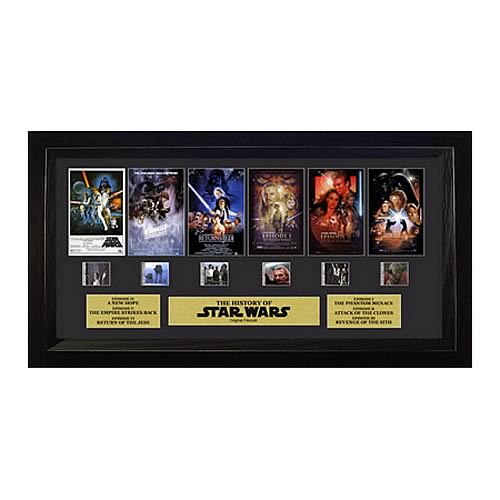 Star Wars Through the Ages Saga Montage Special Film Cell Display - Official Filmcells Ltd :: Mental XS Online