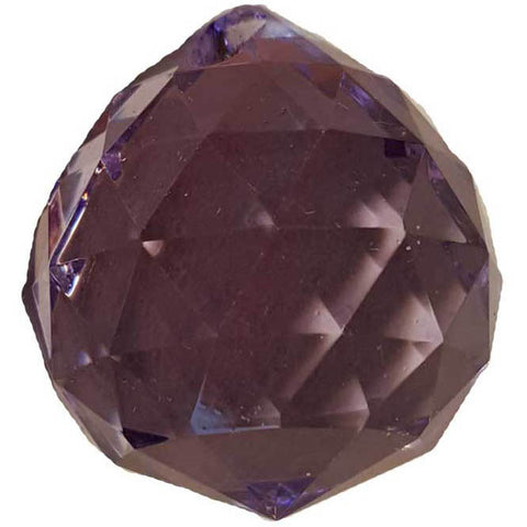 Purple faceted Crystal Ball 30mm