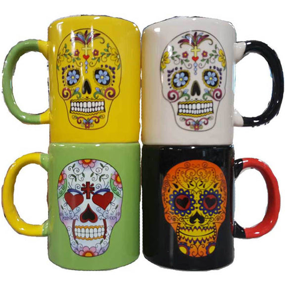 Day of the Dead Mugs - set of 4