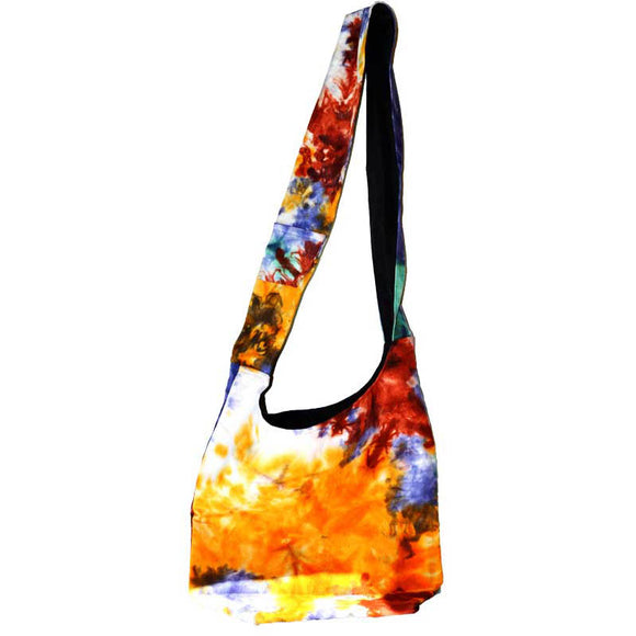 Multi-colored Tie-dyed Zip Shoulder Tote Bag 12