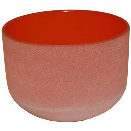 Orange Crystal Singing Bowl 8