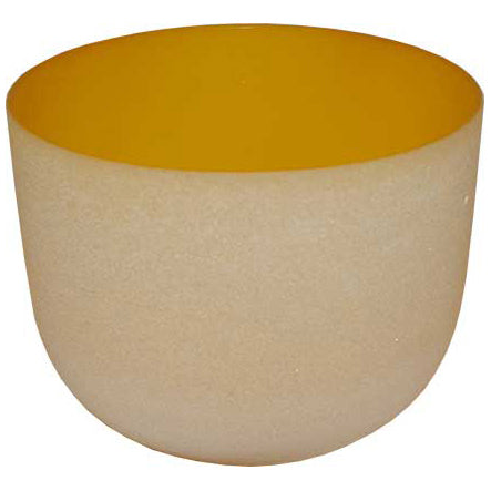 Yellow Crystal Singing Bowl 8