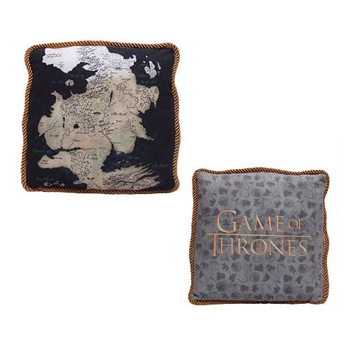 Game of Thrones Westeros Map Throw Pillow Set - Official Factory Entertainment :: Mental XS Online