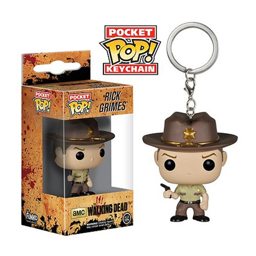 The Walking Dead Rick Grimes Pop! Vinyl Figure Key Chain - Official Funko :: Mental XS Online