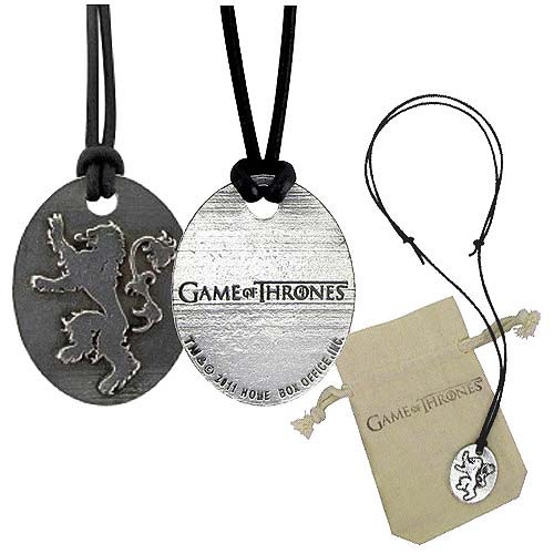 Game of Thrones Lannister Pendant Necklace - Official Artisan Designs :: Mental XS Online