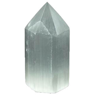 "White Selenite Generator Crystal 3¾"" x 1¼"""