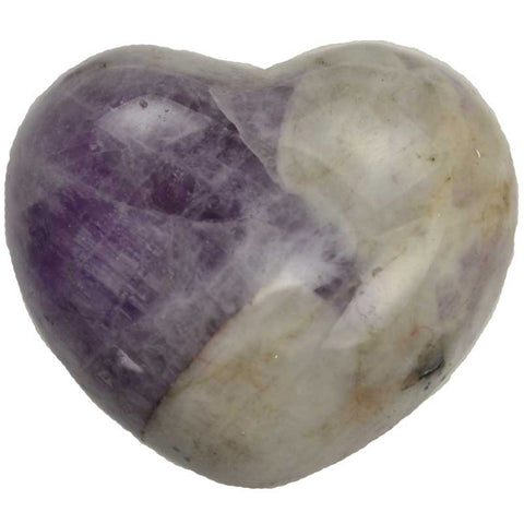 Chevron Amethyst Gemstone Heart 1¾""