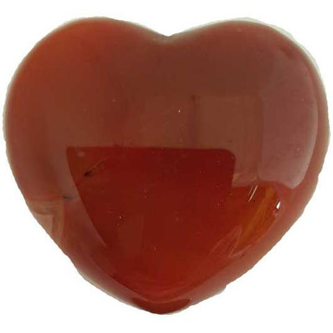 Carnelian Gemstone Heart 1¾""