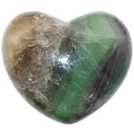 Fluorite Gemstone Heart 1¾""