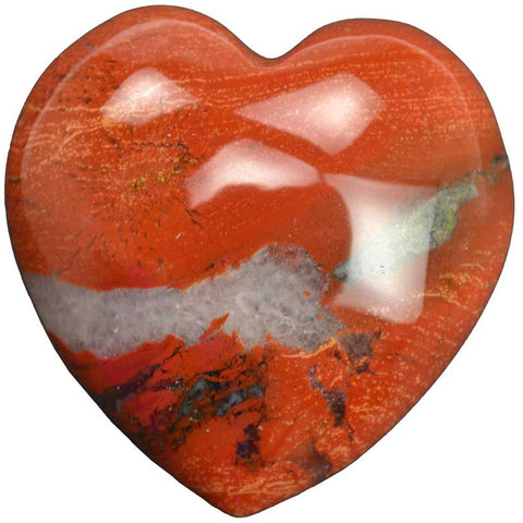 Brecciated Jasper Gemstone Heart 1¾""