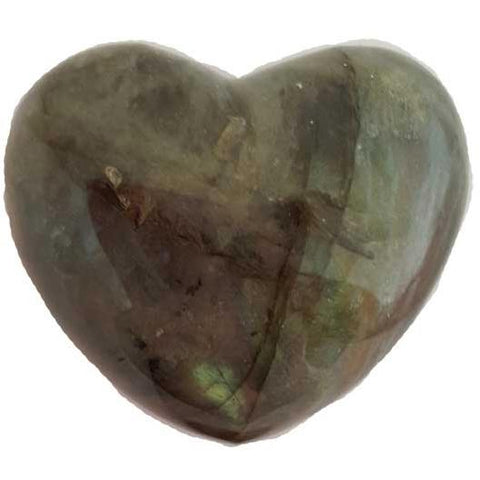 Labradorite Gemstone Heart 1¾""