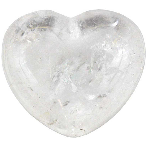Clear Quartz Gemstone Heart 1¾