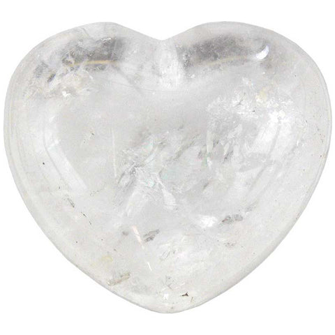 Clear Quartz Gemstone Heart 1¾""
