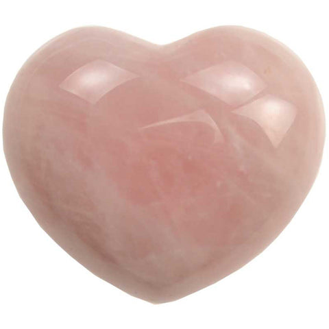 Rose Quartz Gemstone Heart 1¾""